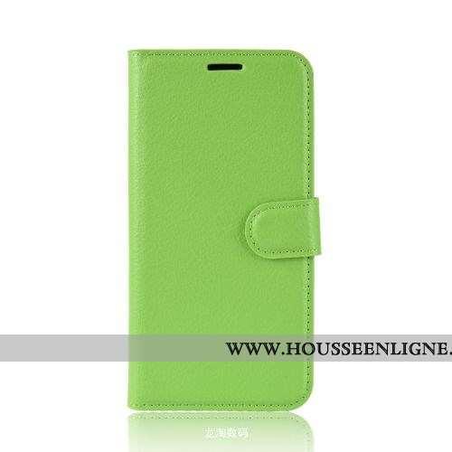 Housse Xiaomi Mi 9 Lite Cuir Portefeuille Modèle Petit Étui Jours Téléphone Portable Verte