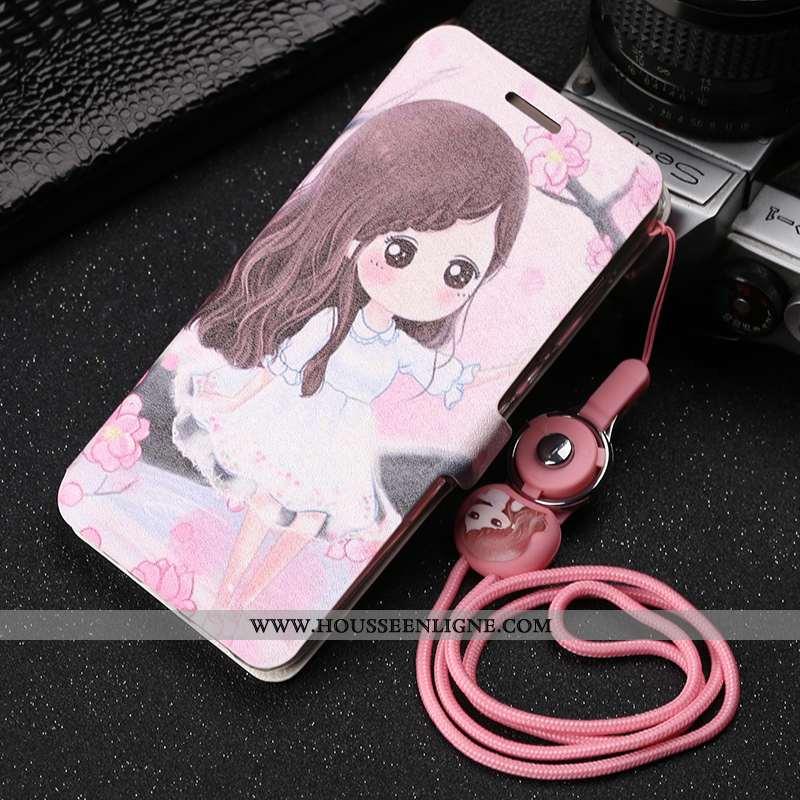 Housse Xiaomi Mi 9 Lite Fluide Doux Protection Téléphone Portable Cuir Incassable Rose Dessin Animé
