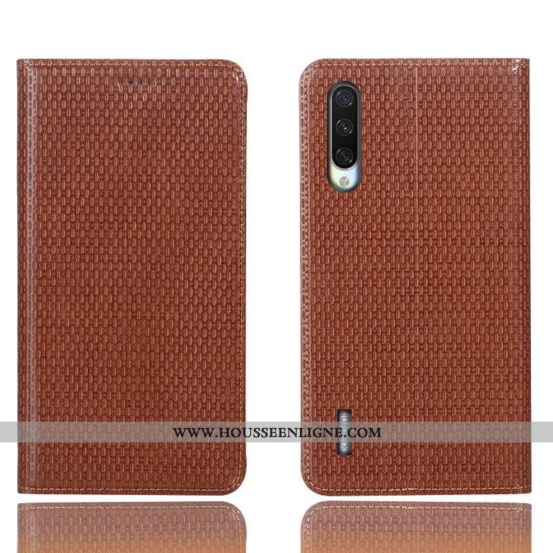 Housse Xiaomi Mi 9 Lite Protection Cuir Véritable Modèle Fleurie Téléphone Portable Petit Étui Incas