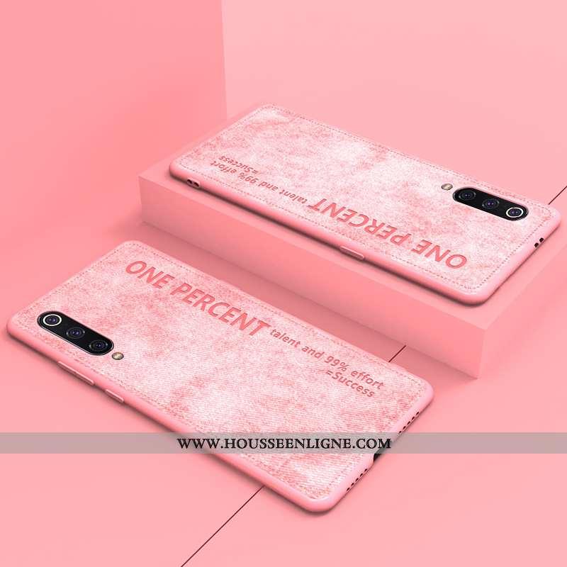 Housse Xiaomi Mi 9 Lite Protection Original Petit Nouveau Cuir Rose Étui