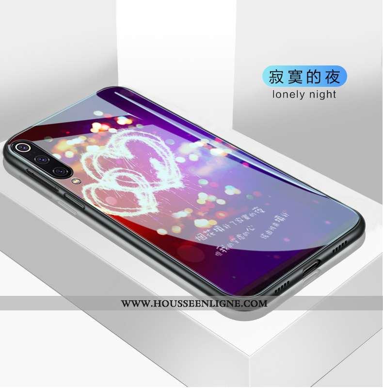 Housse Xiaomi Mi 9 Personnalité Créatif Silicone Fluide Doux Tendance Protection Violet