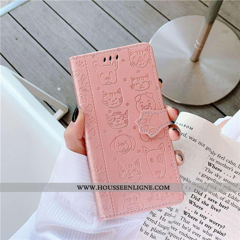 Housse Xiaomi Mi 9 Protection Cuir Étui Téléphone Portable Chat Petit Rose