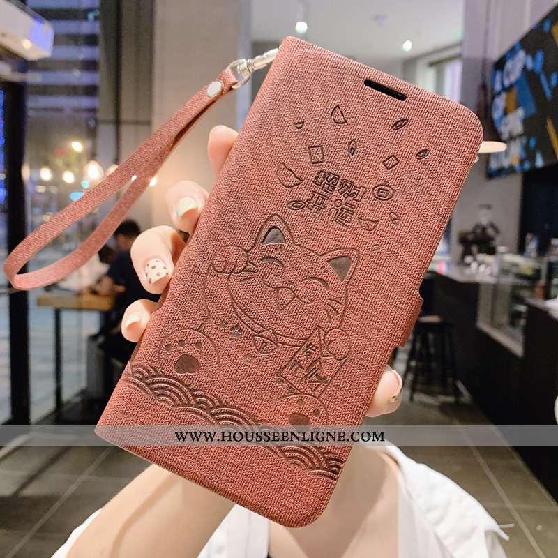 Housse Xiaomi Mi 9 Protection Ornements Suspendus Étui Silicone Richesse Chat Incassable Marron