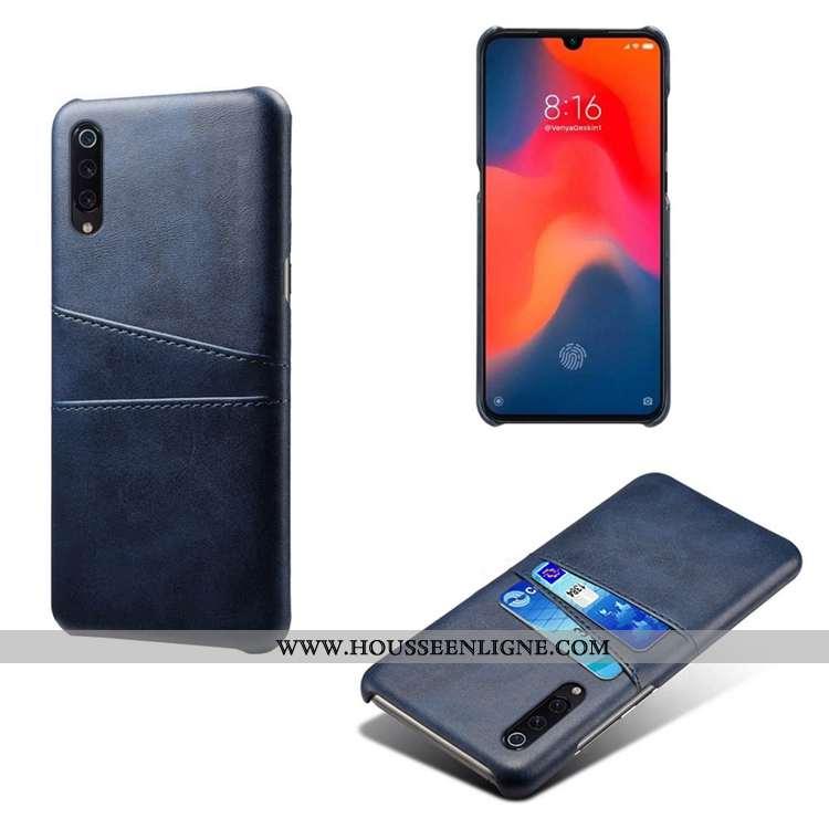 Housse Xiaomi Mi 9 Se Créatif Cuir Incassable Carte Bleu Marin Petit Personnalité Bleu Foncé