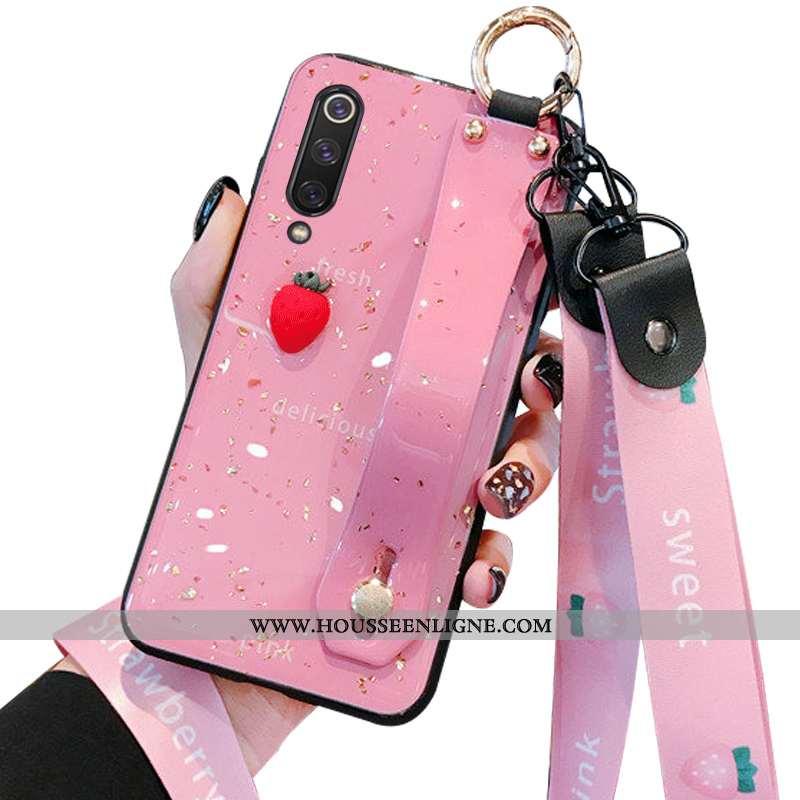 Housse Xiaomi Mi 9 Se Fluide Doux Silicone Téléphone Portable Rose Simple Incassable Modèle