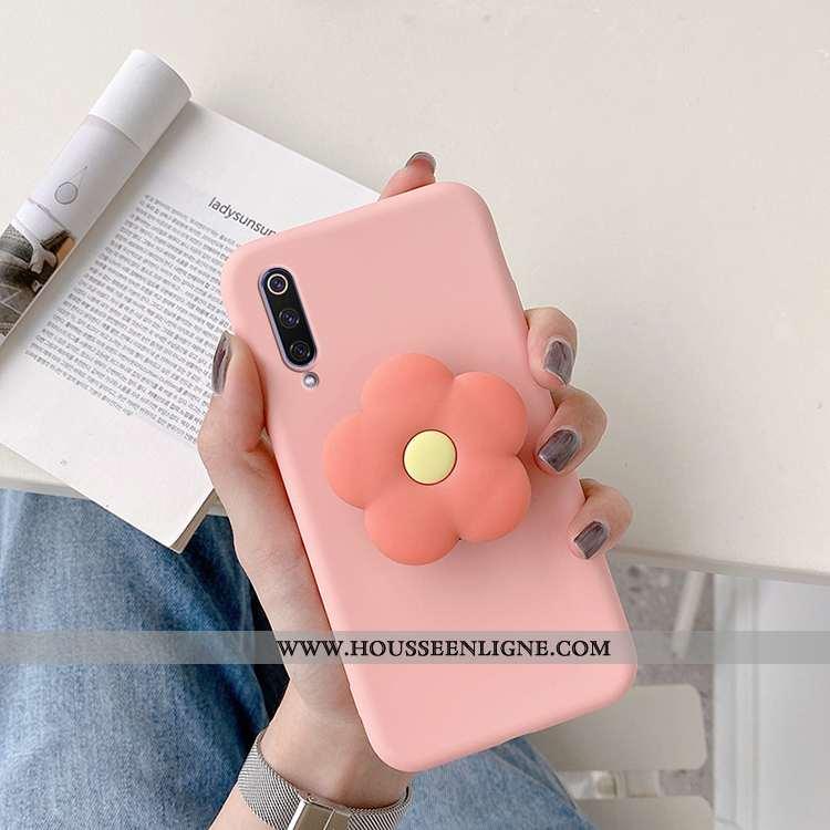 Housse Xiaomi Mi 9 Se Silicone Protection Coque Incassable Fluide Doux Petit Téléphone Portable Rose
