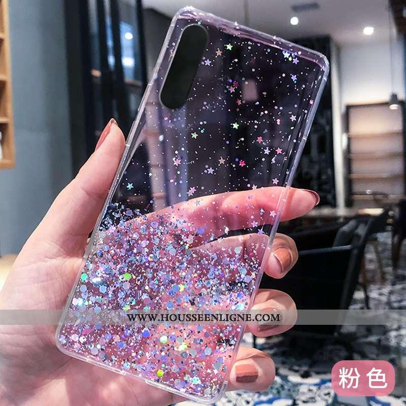 Housse Xiaomi Mi 9 Se Tendance Fluide Doux Luxe Rose Silicone Modèle Argent Violet