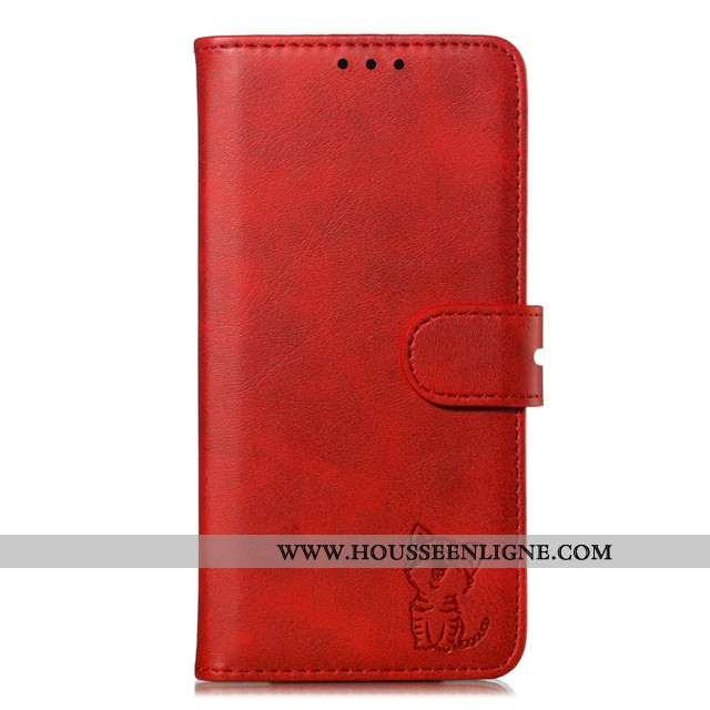 Housse Xiaomi Mi 9t Cuir Petit Rouge Coque Incassable Étui Téléphone Portable