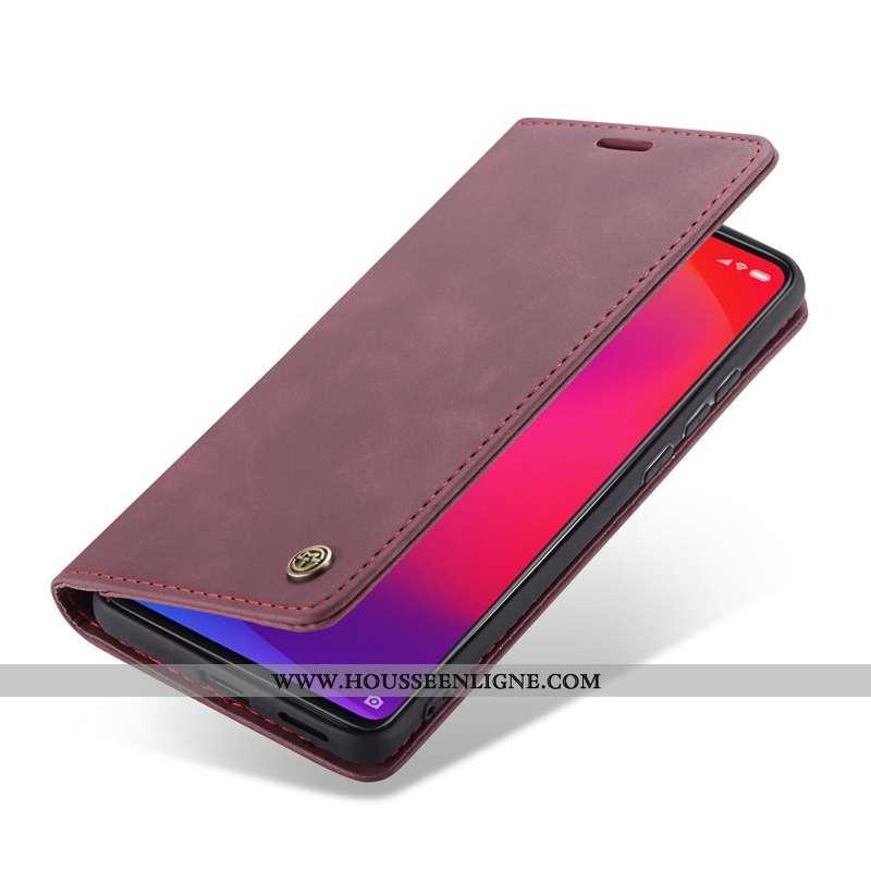 Housse Xiaomi Mi 9t Cuir Vin Rouge Carte Téléphone Portable Étui Coque Bordeaux