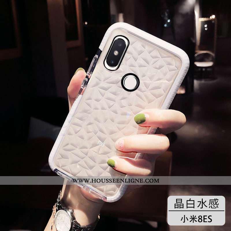Housse Xiaomi Mi 9t Fluide Doux Silicone Transparent Blanc Tendance Rouge Vent Blanche