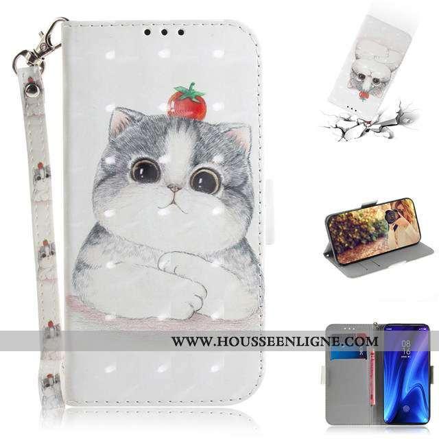 Housse Xiaomi Mi 9t Mode Charmant Téléphone Portable Cuir Tout Compris Blanc Incassable Blanche