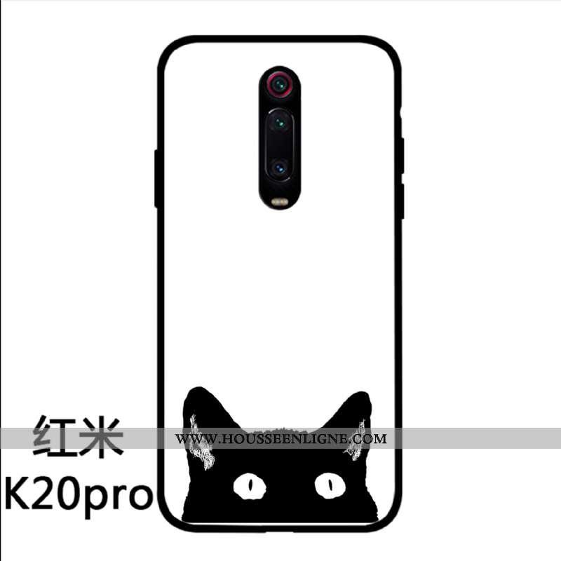 Housse Xiaomi Mi 9t Pro Personnalité Créatif Simple Incassable Dessin Animé Verre Protection Blanche