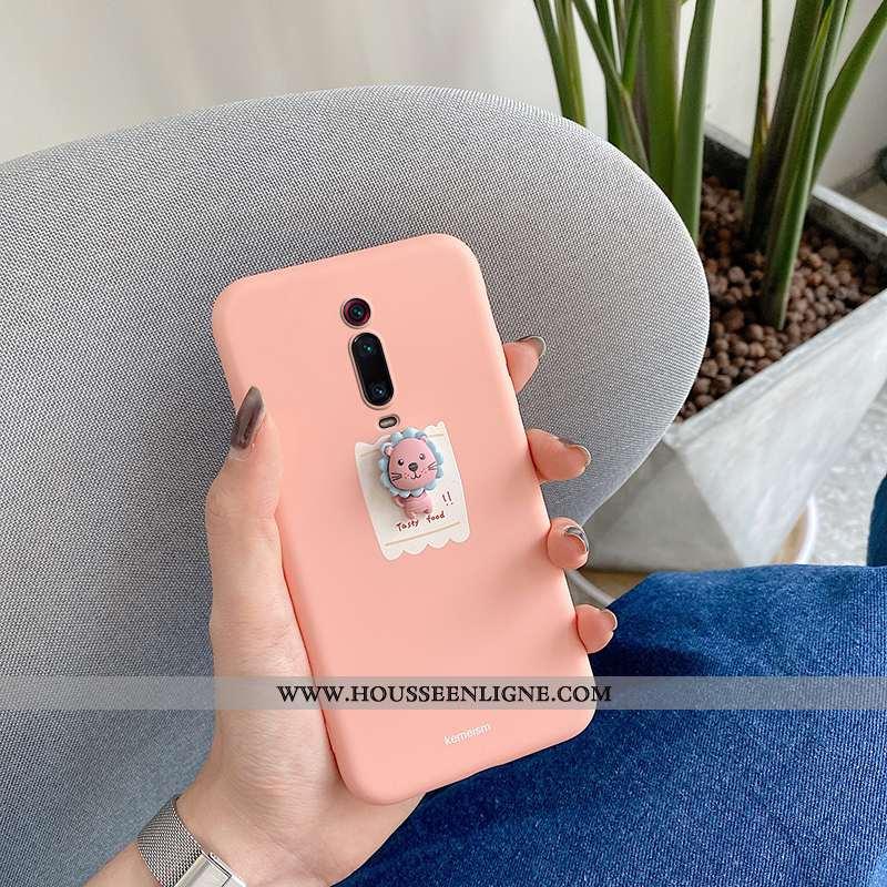 Housse Xiaomi Mi 9t Pro Protection Créatif Coque Rose Petit Tout Compris Silicone