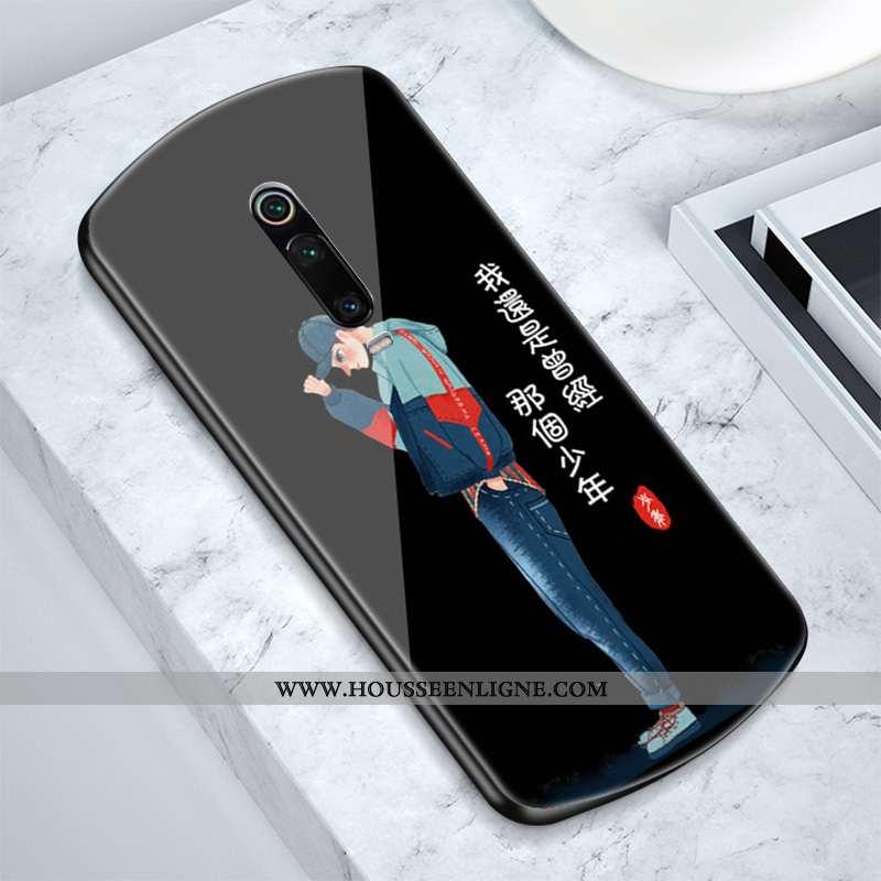 Housse Xiaomi Mi 9t Pro Tendance Silicone Petit Noir Amoureux Coque Tout Compris