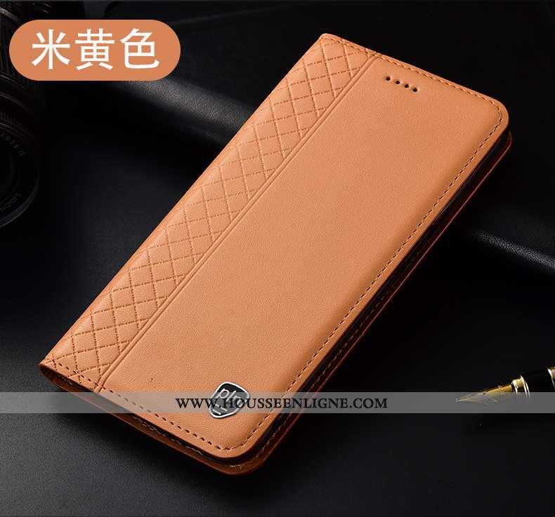 Housse Xiaomi Mi 9t Protection Cuir Véritable Incassable Jeunesse Jaune Étui Petit