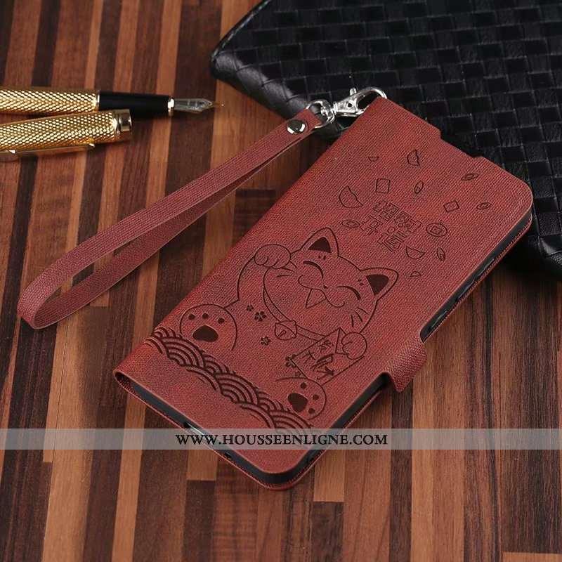 Housse Xiaomi Mi 9t Protection Personnalité Clamshell Incassable Vintage Simple Tout Compris Marron