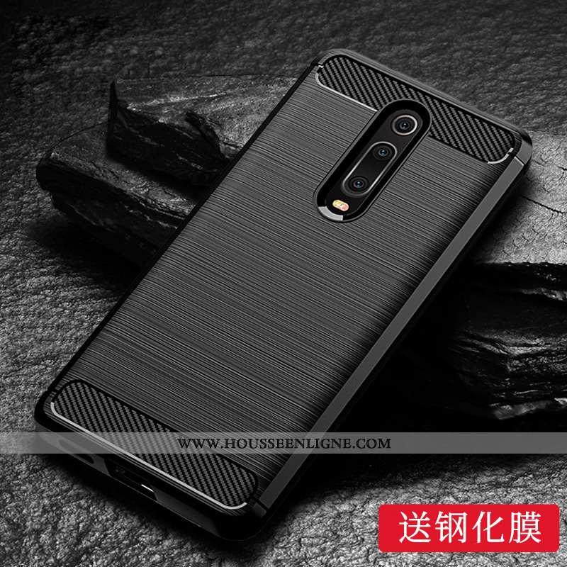 Housse Xiaomi Mi 9t Tendance Silicone Personnalité Protection Noir Rouge Incassable