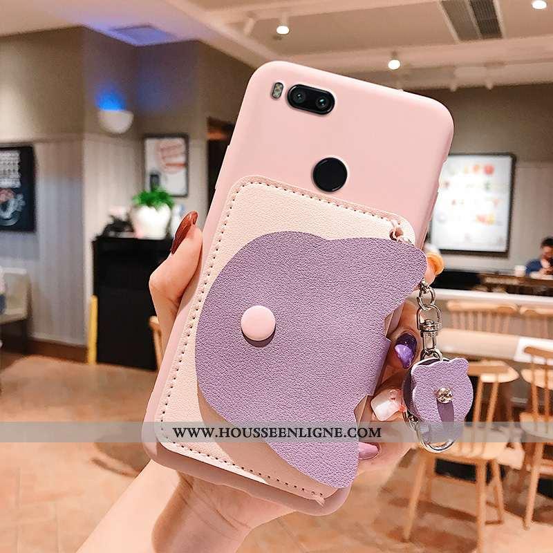 Housse Xiaomi Mi A1 Créatif Portefeuille Petit Téléphone Portable Tout Compris Fluide Doux Étui Rose