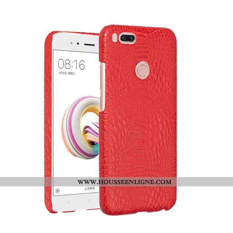 Housse Xiaomi Mi A1 Protection Cuir Téléphone Portable Petit Coque Rouge Difficile