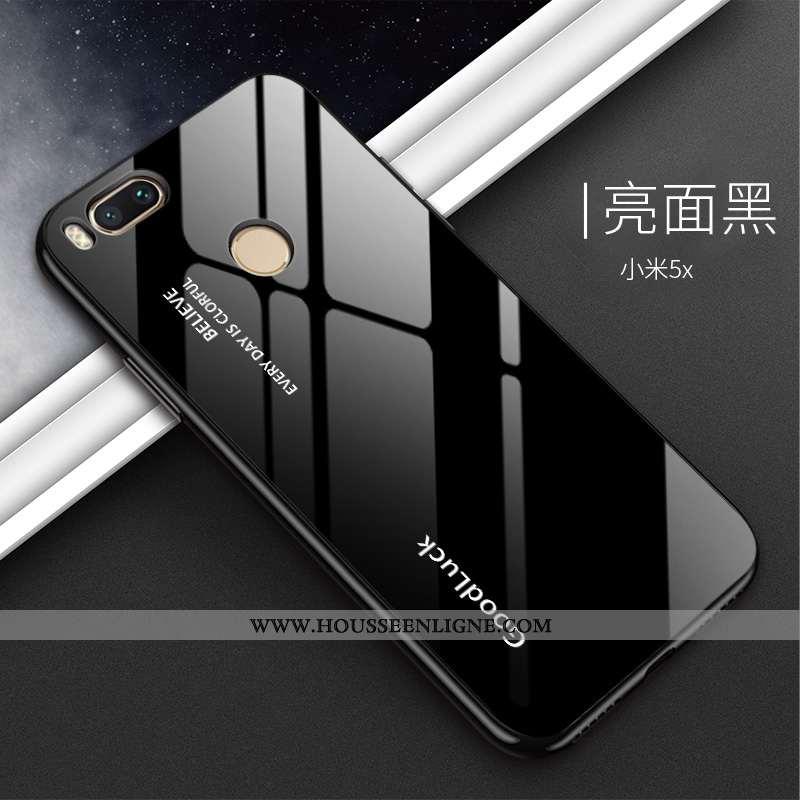 Housse Xiaomi Mi A1 Silicone Protection Téléphone Portable Difficile Noir Étui Dégradé De Couleur