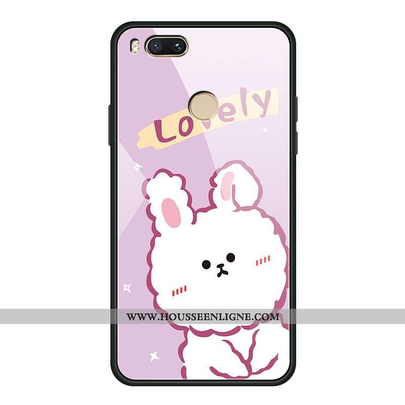 Housse Xiaomi Mi A1 Verre Créatif Petit Téléphone Portable Rose Amoureux Coque