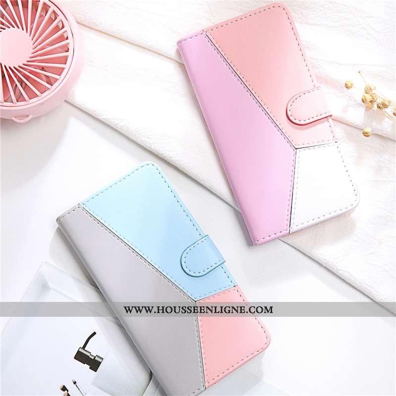 Housse Xiaomi Mi A2 Cuir Bleu Téléphone Portable Petit Amoureux Coque Étui