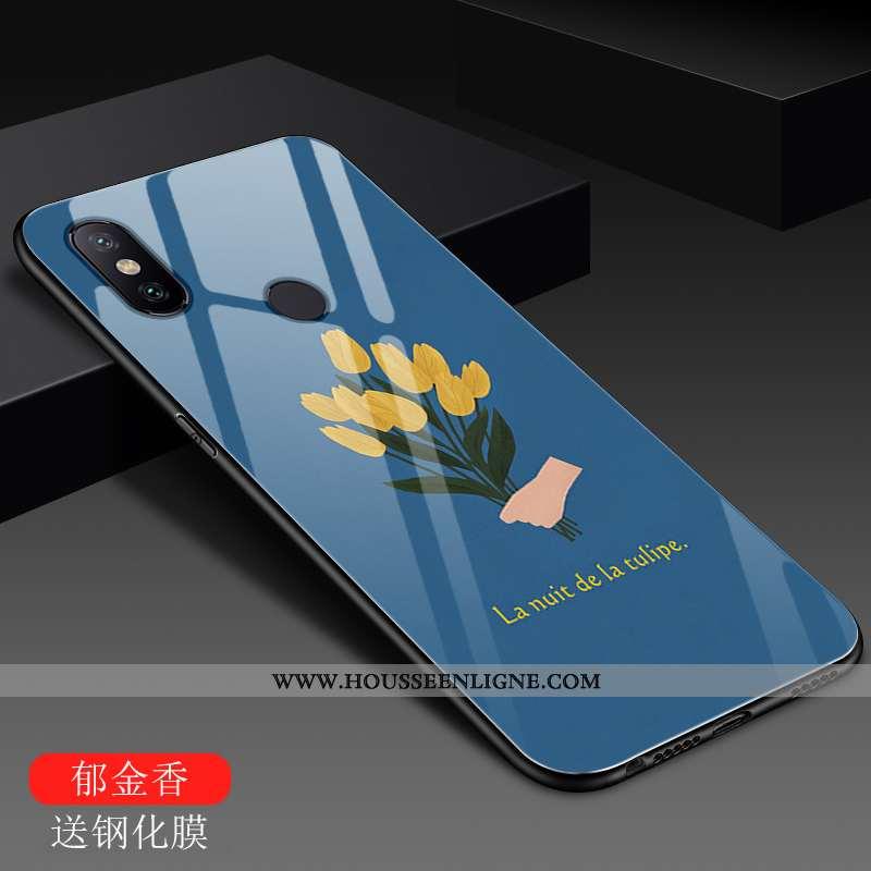 Housse Xiaomi Mi A2 Lite Créatif Tendance Protection Étui Mode Rouge Incassable Bleu