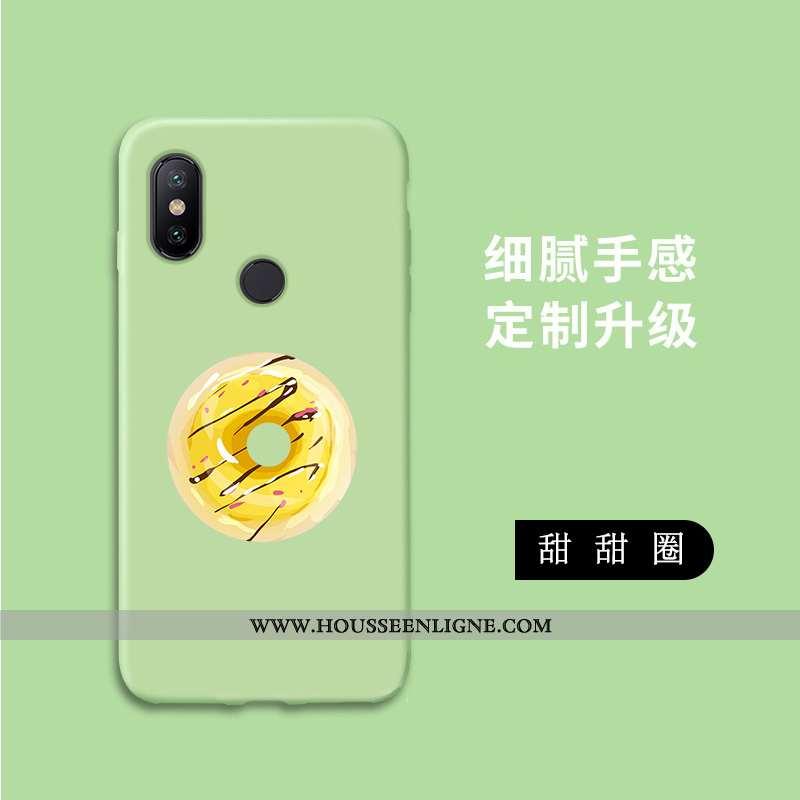 Housse Xiaomi Mi A2 Lite Délavé En Daim Personnalité Incassable Tout Compris Fluide Doux Vert Téléph