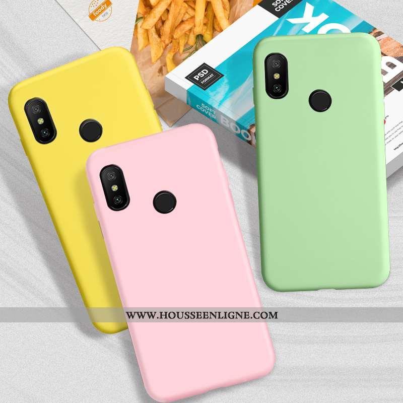 Housse Xiaomi Mi A2 Lite Fluide Doux Silicone Téléphone Portable Protection Étui Rose Tout Compris
