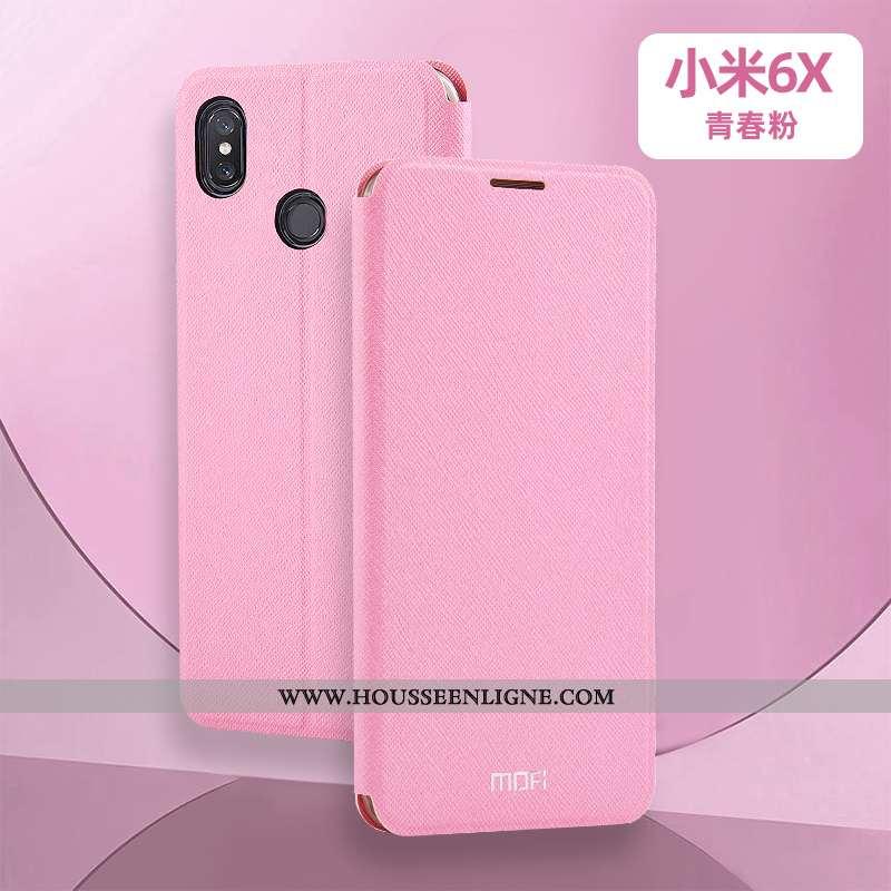 Housse Xiaomi Mi A2 Silicone Accessoires Tout Compris Clamshell Réveillez-vous Téléphone Portable In