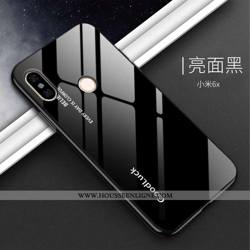 Housse Xiaomi Mi A2 Silicone Verre Noir Petit Téléphone Portable Dégradé Tout Compris