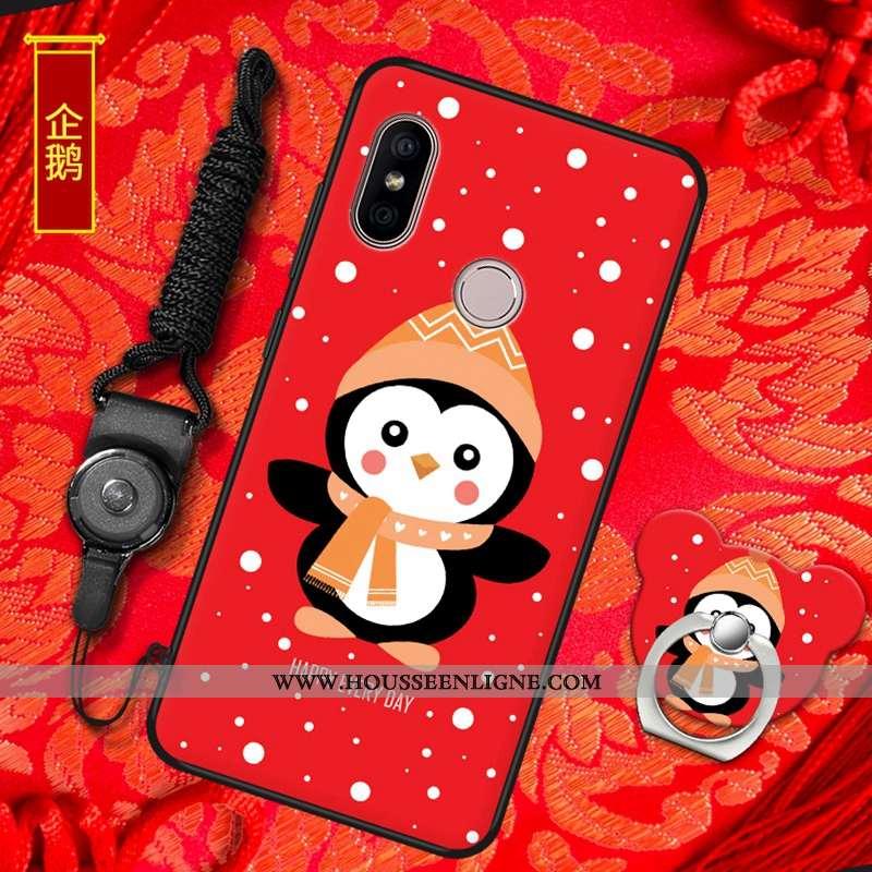 Housse Xiaomi Mi A2 Tendance Fluide Doux Petit Tout Compris Rouge Nouveau Amoureux