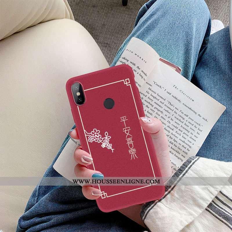 Housse Xiaomi Mi A2 Ultra Légère Étui Silicone Vin Rouge De Fête Délavé En Daim Bordeaux