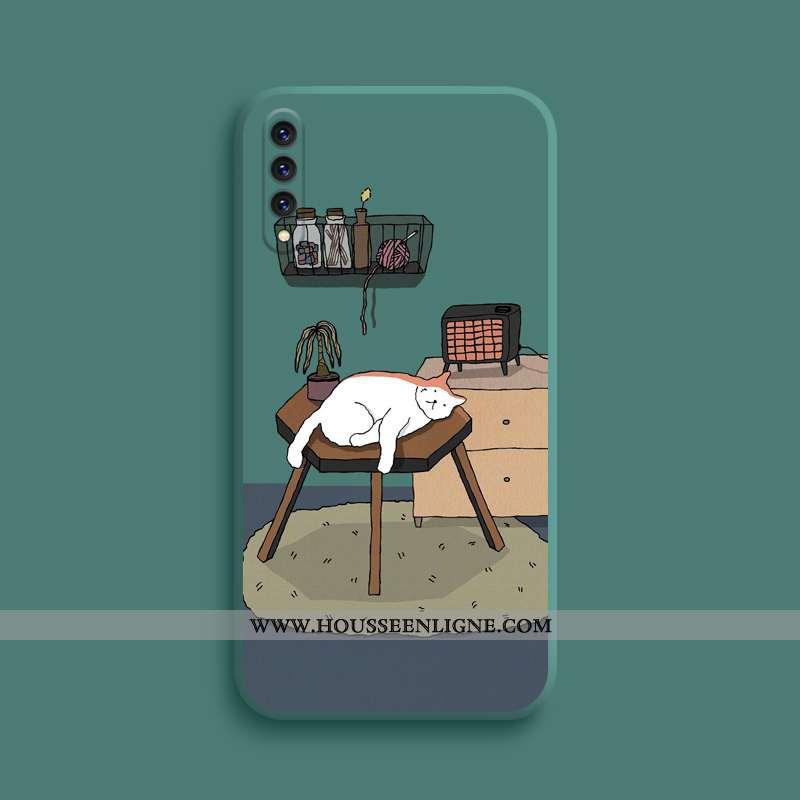 Housse Xiaomi Mi A3 Dessin Animé Charmant Silicone Créatif Personnalité Ultra Chat Verte