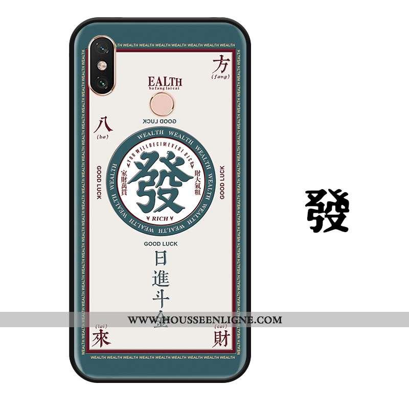 Housse Xiaomi Mi Max 3 Créatif Gaufrage Personnalité Étui Ornements Suspendus Protection Coque Verte