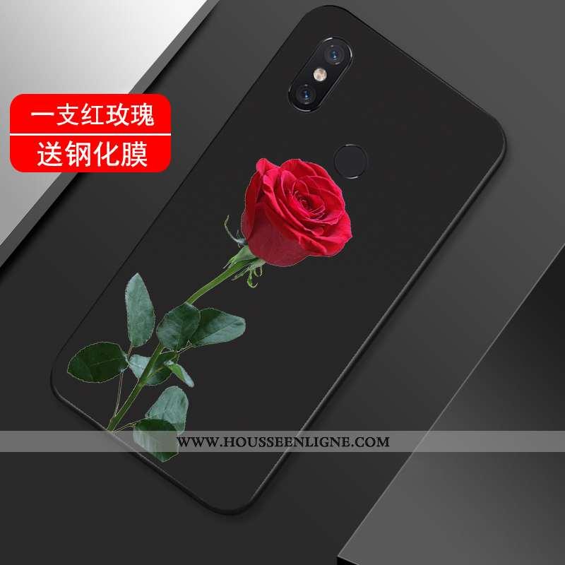 Housse Xiaomi Mi Max 3 Créatif Vintage Incassable Noir Étui Coque Tout Compris