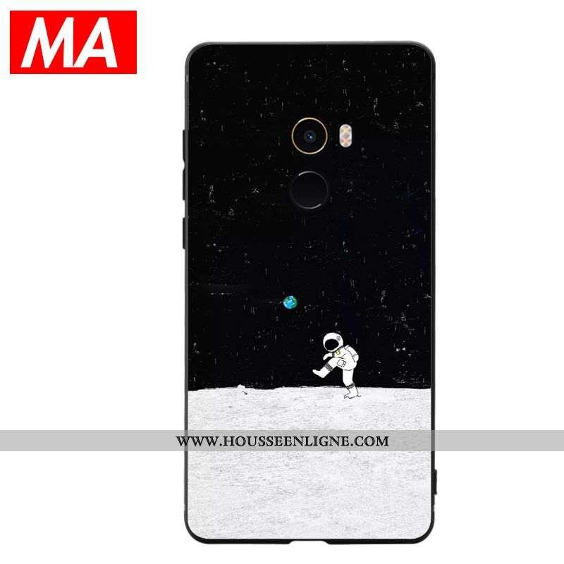 Housse Xiaomi Mi Max 3 Silicone Créatif Petit Vent Simple Clair Téléphone Portable Noir
