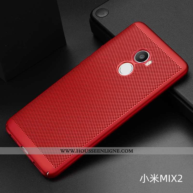 Housse Xiaomi Mi Mix 2 Délavé En Daim Légère Petit Respirant Téléphone Portable Refroidissement Diff