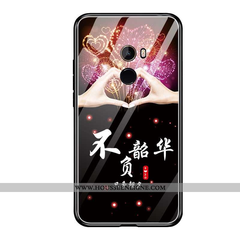 Housse Xiaomi Mi Mix 2 Silicone Protection Téléphone Portable Coque Fluide Doux Étui Noir