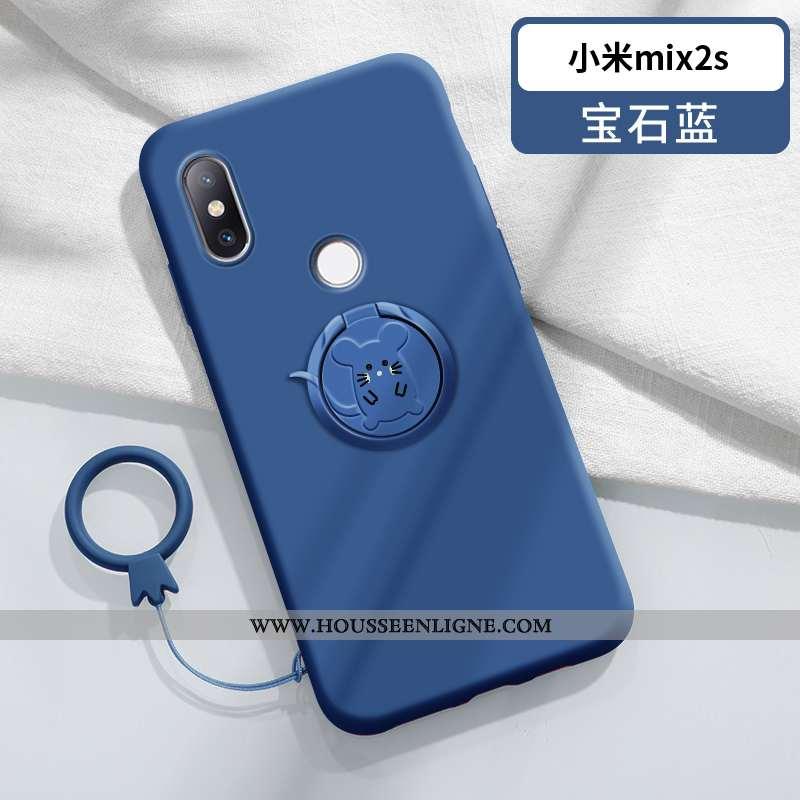 Housse Xiaomi Mi Mix 2s Charmant Ultra Silicone Créatif Coque Nouveau Petit Bleu Foncé