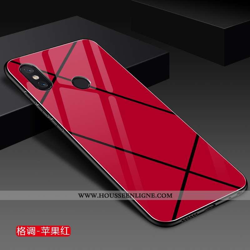Housse Xiaomi Mi Mix 2s Créatif Tendance Rouge Net Rouge Mode Petit Incassable