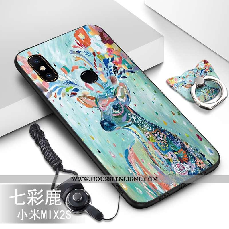 Housse Xiaomi Mi Mix 2s Fluide Doux Silicone Petit Téléphone Portable Ornements Suspendus Protection