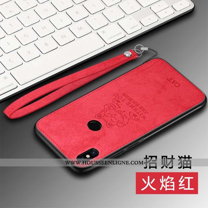 Housse Xiaomi Mi Mix 2s Protection Personnalité Chat Téléphone Portable Tissu Coque Net Rouge