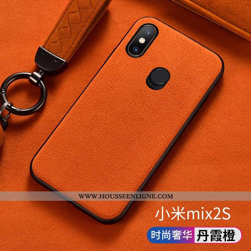 Housse Xiaomi Mi Mix 2s Silicone Protection Tout Compris Étui Europe Orange Daim Fourrure