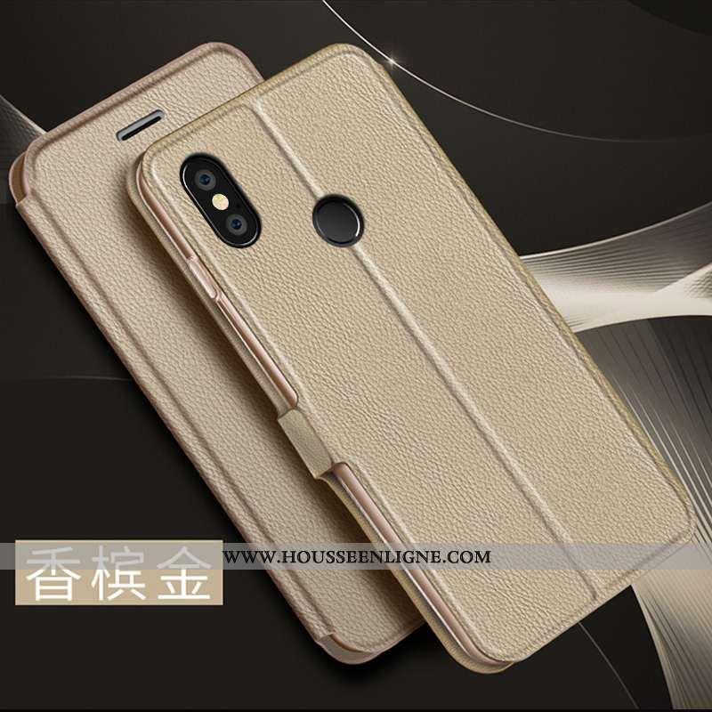 Housse Xiaomi Mi Mix 3 Cuir Silicone Ultra Business Protection Tendance Nouveau Doré