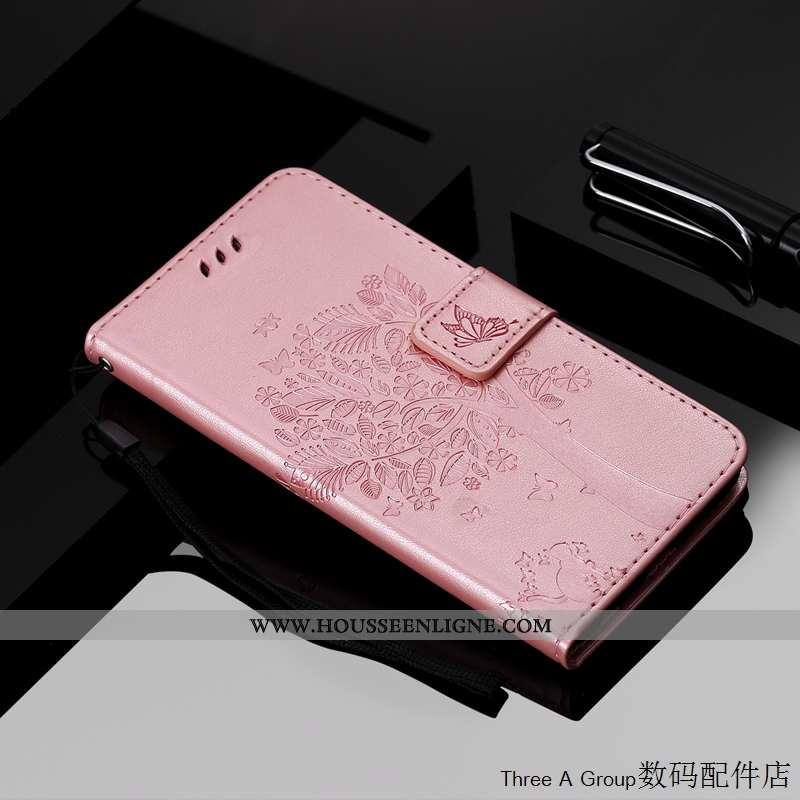 Housse Xiaomi Mi Note 10 Charmant Cuir Étui Téléphone Portable Petit Rose Incassable