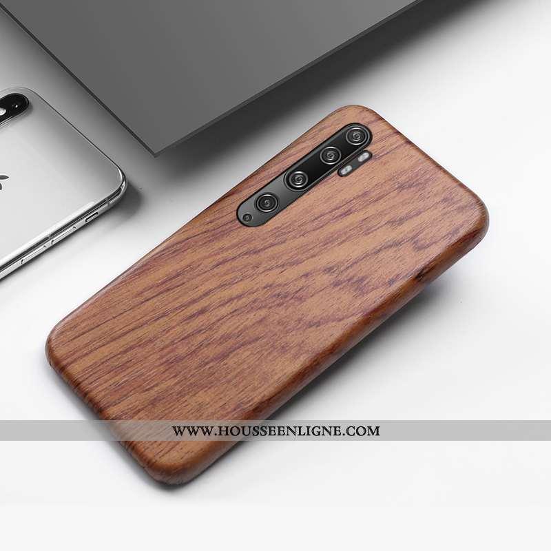 Housse Xiaomi Mi Note 10 Créatif En Bois Coque Antidérapant Personnalité Tout Compris Téléphone Port