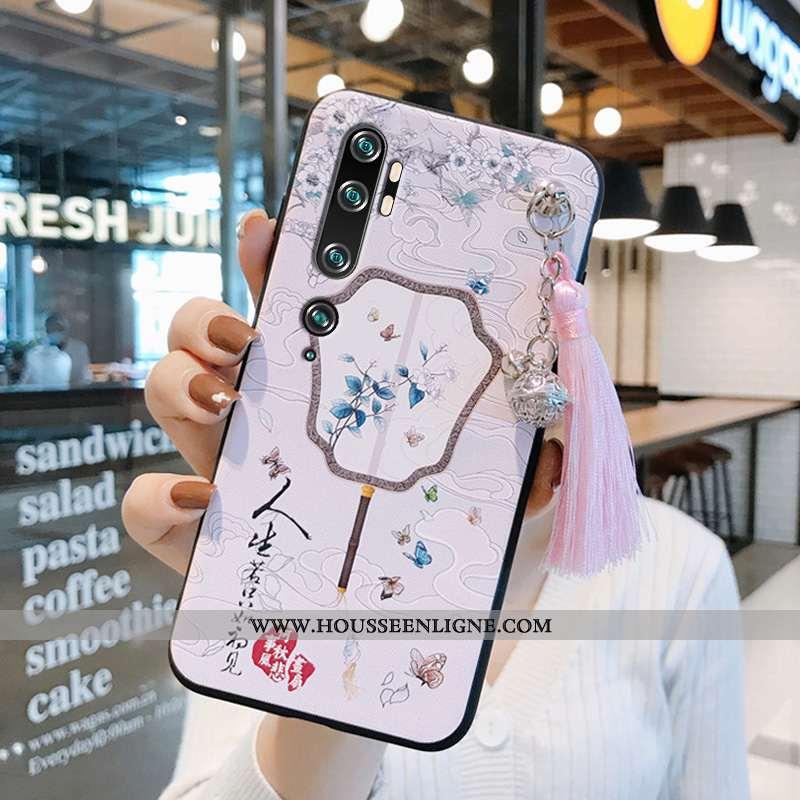 Housse Xiaomi Mi Note 10 Créatif Vintage Fluide Doux Protection À Franges Personnalité Style Chinois