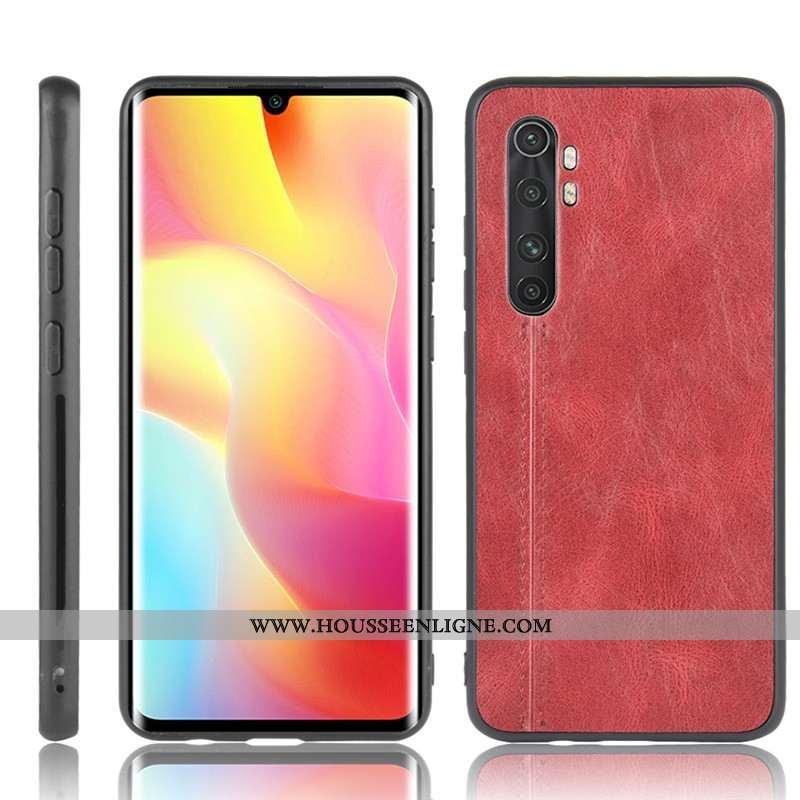 Housse Xiaomi Mi Note 10 Lite Cuir Modèle Fleurie Petit Jeunesse Étui Rouge Téléphone Portable