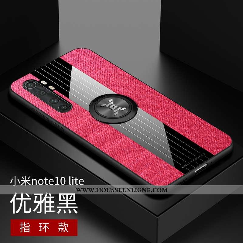 Housse Xiaomi Mi Note 10 Lite Silicone Protection Délavé En Daim Incassable Petit Modèle Fleurie Étu